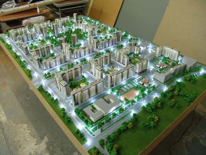 фото макетов чистый город установки